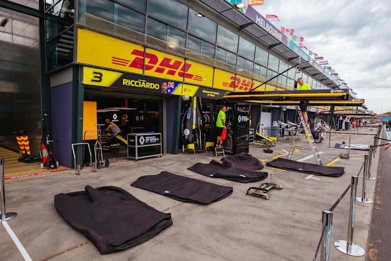 Melbourne, Australia - March 13 2020: Teams begin packing up at Albert Park after the 2020 Formula 1 Australian Grand Prix is cancelled- PHOTOGRAPH BY Chris Putnam / Barcroft Studios / Future Publishing (Photo credit should read Chris Putnam/Barcroft Media via Getty Images)