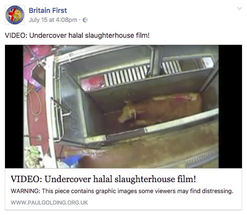 <strong>The incorrect video was shared on Britain First's official Facebook page.</strong> (Facebook)