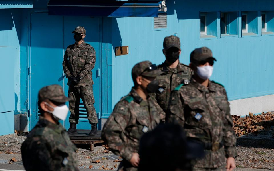 The Panmunjom border village has also been the scene of an audacious defection - Getty Images