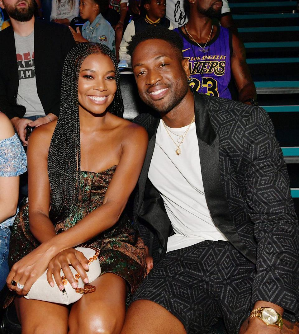 "<p>When Gabrielle Union first met Dwyane Wade in 2006, their love lives were both struggling. She had just divorced her husband, and he was about to separate from his wife. But despite the less-than-ideal situation, Union decided to take a chance on Wade.<br></p><p>""When I met Dwyane, his résumé looked like crap: athlete, going through a divorce, nine years younger than me,"" Union told <em><a href=""https://www.glamour.com/story/gabrielle-union-dos-and-donts"" rel=""nofollow noopener"" target=""_blank"" data-ylk=""slk:Glamour"" class=""link rapid-noclick-resp"">Glamour</a></em>. ""None of that screamed, 'Let's have a lasting relationship.' Then, after I had a heart-crushing breakup with yet another immature jerk, I thought, it can't be any worse if I date a fetus [referring to their age difference].""</p><p>In December 2013, Wade recruited his three sons to help him propose to Union, and since then, they've been living happily ever after.</p>"