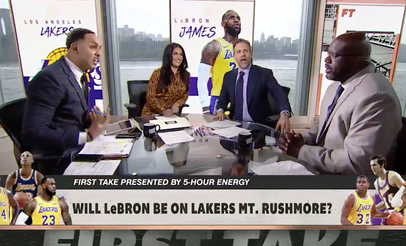 """Basketball season is over which means it's officially """"LeBron or Jordan?"""" season on First Take (make it stop)"""