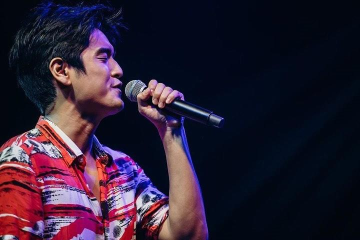 """Singapore's National Day Parade 2020 theme song, """"Everything I Am"""", is performed by Nathan Hartono, seen here at a media preview on 30 July 2020 at the Star Performing Arts Centre. (Photo: NDP 2020 Exco)"""