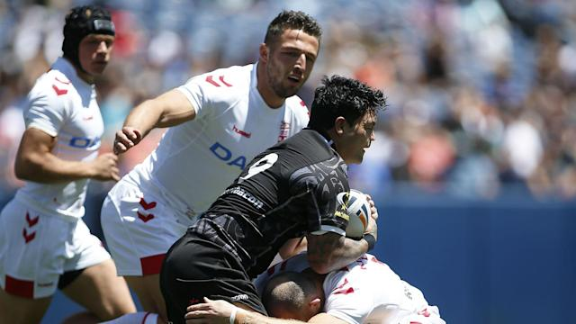 New Zealand made a superb start against England in Denver, but allowed 32 unanswered points as they slipped to defeat.