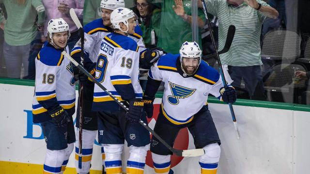 The St. Louis Blues are looking to beat the Dallas Stars again in the playoffs. They're halfway there.