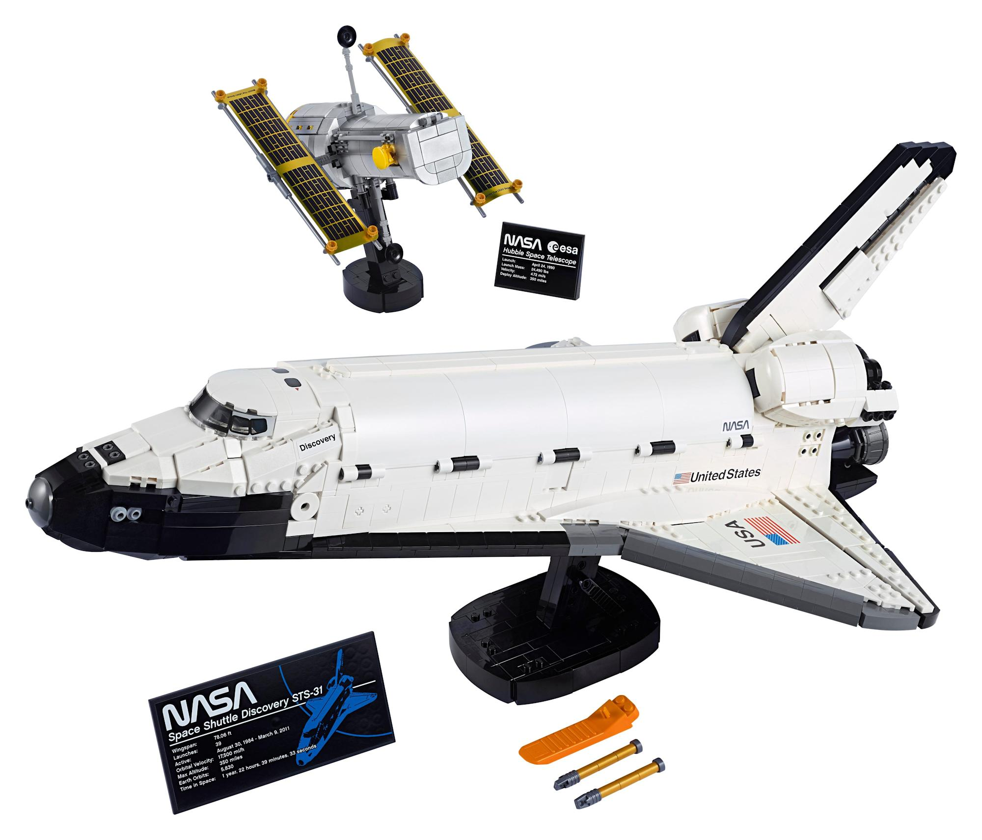 Lego is launching a Space Shuttle Discovery set with more than 2,300 pieces