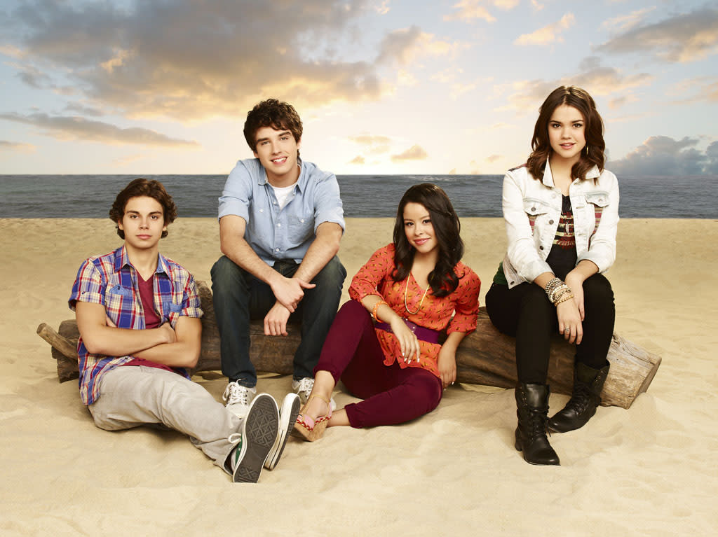 "ABC Family's ""The Fosters"" stars Jake T. Austin as Jesus, David Lambert as Brandon, Cierra Ramirez as Mariana and Maia Mitchell as Callie."