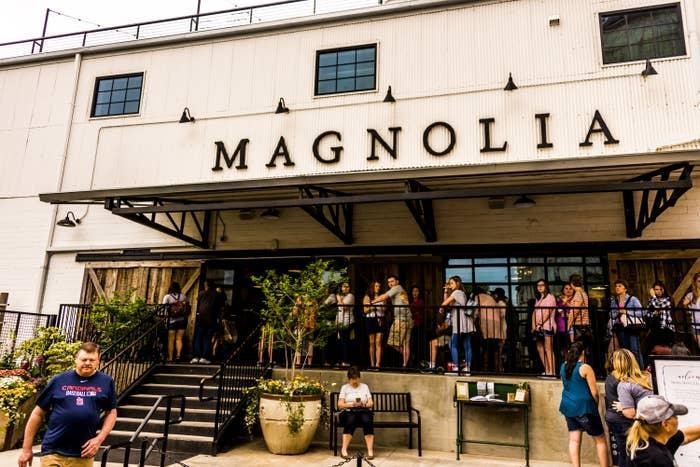 Magnolia Silos, a shopping complex owned by Chip Gaines and Joanna Gaines, is photographed