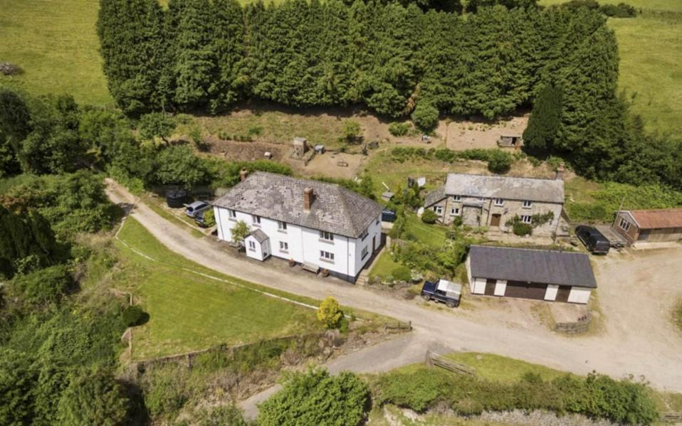 The land up for sale at Winsford, Exmoor