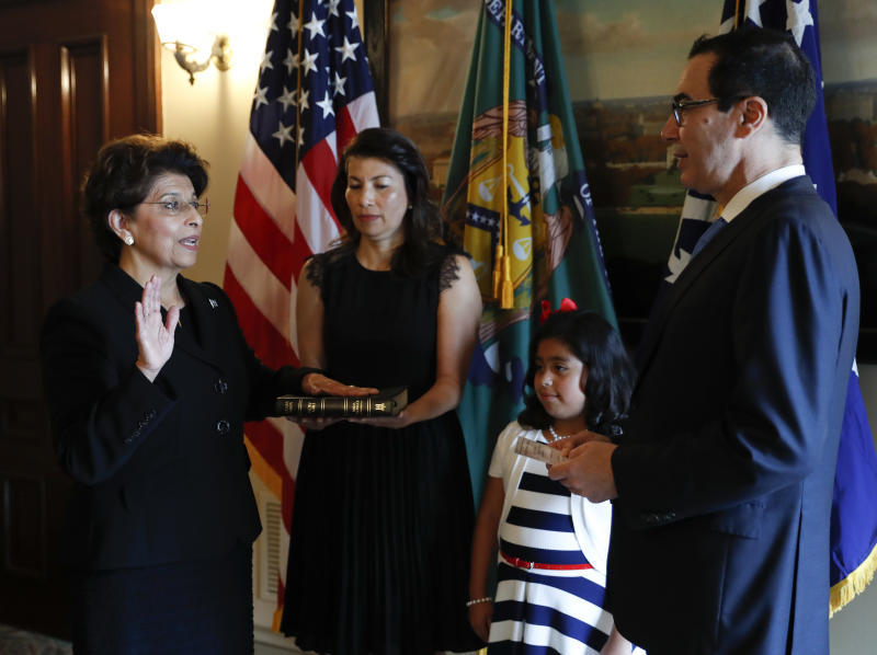 Jovita Carranza sworn in as 44th US Treasurer
