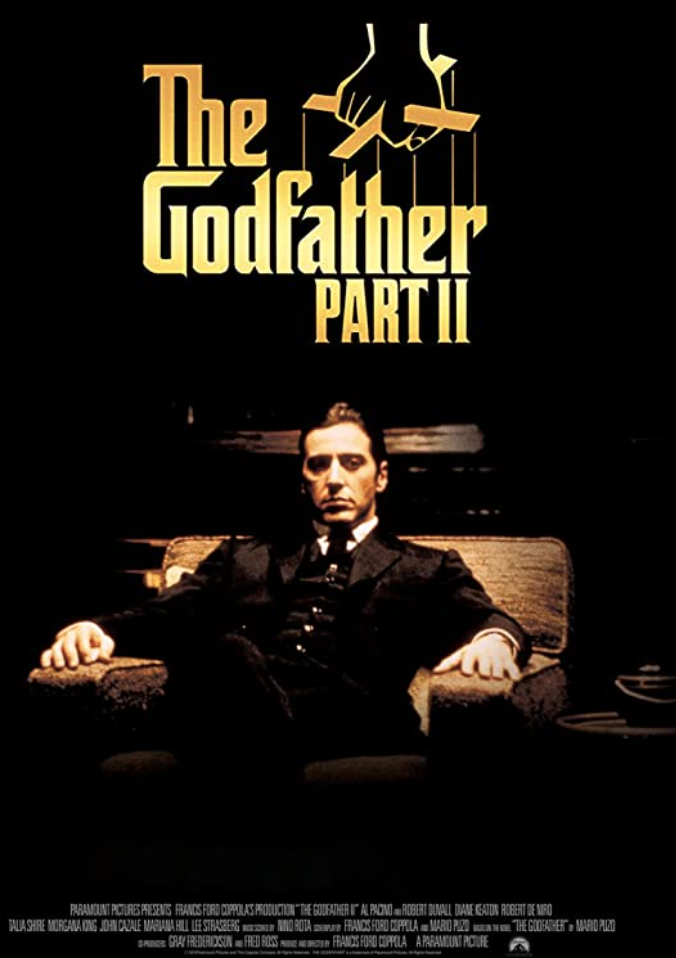 """<p>Maybe the greatest sequel in the history of trilogies, <em>The Godfather: Part II </em>is a multigenerational character study. Its chronicle of successive family crime bosses Michael and Vito makes for one of the most narratively compelling pieces of cinema on this list—gangster film or not.</p><p><a class=""""link rapid-noclick-resp"""" href=""""https://www.amazon.com/Godfather-Part-II-Al-Pacino/dp/B001GJ5AOU/ref=sr_1_1?dchild=1&keywords=The+Godfather%3A+Part+II&qid=1619533503&s=instant-video&sr=1-1&tag=syn-yahoo-20&ascsubtag=%5Bartid%7C2139.g.36133257%5Bsrc%7Cyahoo-us"""" rel=""""nofollow noopener"""" target=""""_blank"""" data-ylk=""""slk:STREAM IT HERE"""">STREAM IT HERE</a></p>"""