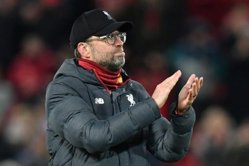 Liverpool manager Jurgen Klopp is two wins away from winning the Premier League