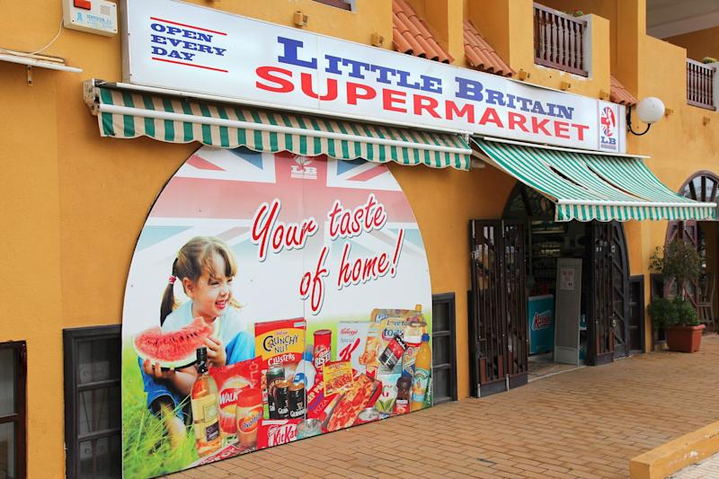 A British supermarket in Spain. (Photo: tupungato via Getty Images)