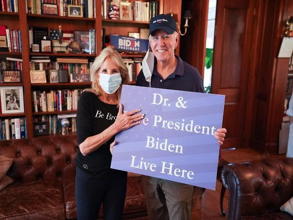 Joe and Jill Biden (Credit: Dr. Jill Biden/Twitter)