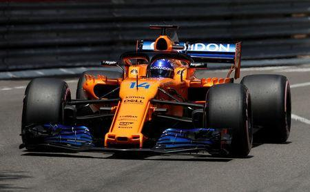 FILE PHOTO: Motoracing - Formula One F1 - Monaco Grand Prix - Circuit de Monaco, Monte Carlo, Monaco - May 26, 2018 McLaren's Fernando Alonso in action during practice REUTERS/Benoit Tessier/File Photo
