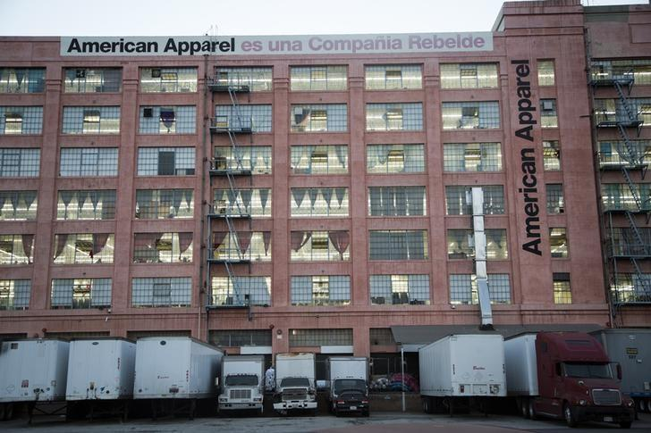 The American Apparel factory headquarters is pictured in Los Angeles