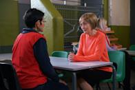 <p>Newcomer Elaine set up a meeting with Yasmeen as she's from a women's charity.</p>