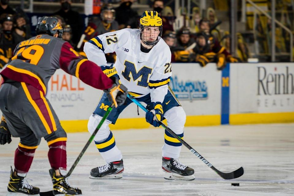 Michigan defenseman Owen Power, projected to be the first pick in the 2021 NHL draft.