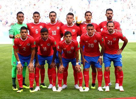 Soccer Football - World Cup - Group E - Costa Rica vs Serbia - Samara Arena, Samara, Russia - June 17, 2018 Costa Rica team group before the match REUTERS/Michael Dalder
