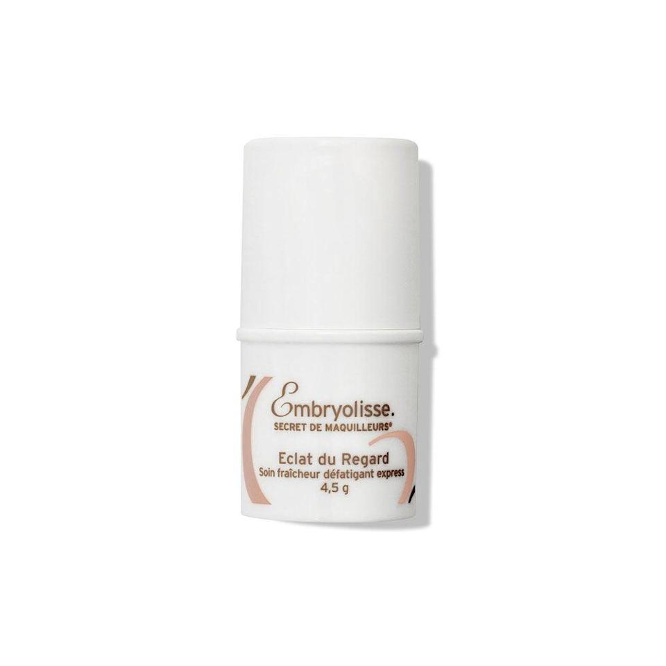 "<h3>Embryolisse Radiant Eye Stick</h3><br>They don't call this Secret de Maquilleurs (loosely translated, that's ""makeup artists' secret,"" for you non-Francophones) for nothing. This handy little stick offers a cooling sensation that feels delicious on tired eyes. More importantly, it helps smooth out the contours of the eye and makes your makeup go on (and look) so much better. Add to that a radiance-boosting effect, and it's no wonder makeup artists hoard this beauty in their kits.<br><br><strong>Embryolisse</strong> Radiant Eye Stick, $, available at <a href=""https://go.skimresources.com/?id=30283X879131&url=https%3A%2F%2Fus.embryolisse.com%2Fshop%2Fradiant-eye-stick-cool-treatment-for-a-brighter-look-016-oz-paraben-free-made-in-france%2F%3Fgclid%3DCj0KCQiAxrbwBRCoARIsABEc9sh0m2EmwRFiYmuo0cxfuO-OfA6fKaWFM1JeqPwdupHBS_UPkGYSH1caAlUpEALw_wcB"" rel=""nofollow noopener"" target=""_blank"" data-ylk=""slk:Embryolisse"" class=""link rapid-noclick-resp"">Embryolisse</a>"