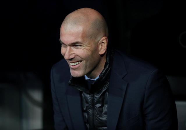 Soccer Football - La Liga Santander - Real Madrid vs Girona - Santiago Bernabeu, Madrid, Spain - March 18, 2018 Real Madrid coach Zinedine Zidane before the match REUTERS/Sergio Perez