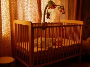 A baby cot