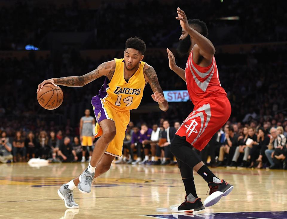 Brandon Ingram had nine points and three rebounds in his NBA debut. (Getty)