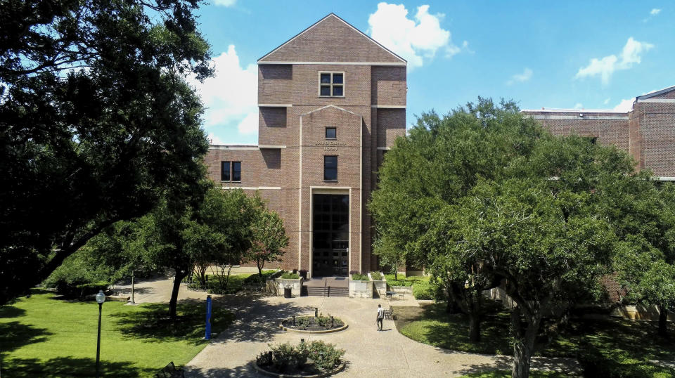 This 2021 photo shows The Prairie View A&M University Library in Prairie View, Texas. Philanthropist MacKenzie Scott has funded organizations that received the most money for racial equity in 27 different states following the police killing of George Floyd. According to an AP analysis of new preliminary data from the philanthropy research organization Candid, Scott was responsible for approximately $567 million given to these organizations. (Michael T. Thomas/Prairie View A&M University Marketing and Communications via AP).
