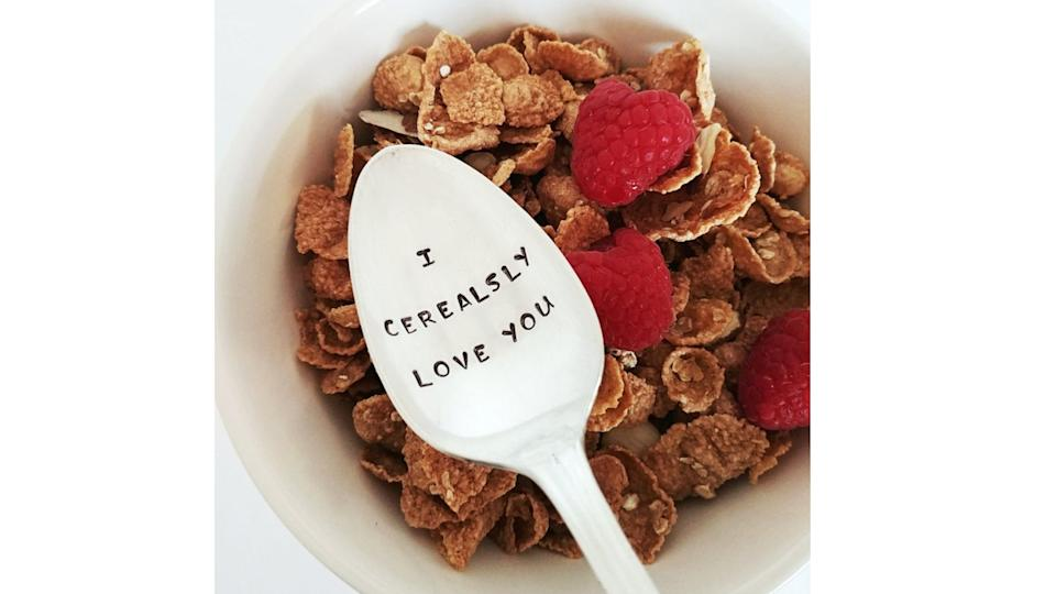 I Cerealsly Love You Spoon. (Image via Etsy)