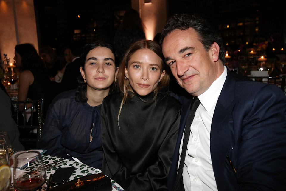 Mary-Kate Olsen and Olivier and Margot Sarkozy attend the 2018 Glasswing International Gala at Tribeca Rooftop on April 26, 2018 in New York City.