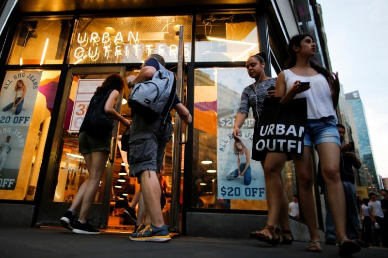 Customers visit Urban Outfitters store in Manhattan, New York