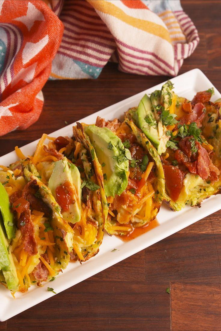 """<p>Turn zucchini into taco shells for your next taco night.</p><p>Get the recipe from <a href=""""https://www.delish.com/cooking/recipe-ideas/recipes/a57886/zucchini-taco-shells-recipe/"""" rel=""""nofollow noopener"""" target=""""_blank"""" data-ylk=""""slk:Delish"""" class=""""link rapid-noclick-resp"""">Delish</a>. </p>"""