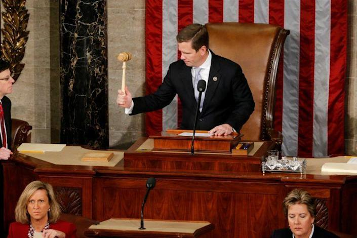 Rep. Bob Dold, R-Ill., gavels closed the 144th Congress. (Photo: Reuters/Jonathan Ernst)