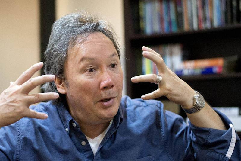 Jeric Soriano, Manny Pacquiao's spiritual adviser, speaks to AFP in Manila on March 24, 2015 (AFP Photo/Noel Celis)