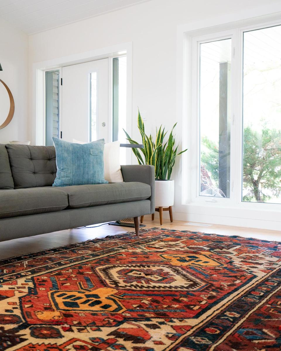 <p>Rugs are maybe one of the most overlooked elements in a room. If you have hard floors, they're a necessity for coziness and warmth. If you have carpet, they're still a great way to add color, style and texture into a room. The cost of rugs can add up quickly, but this investment piece is worth it.</p>