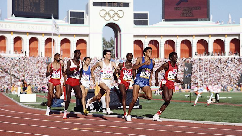Donato Sabia, pictured here competing in the 800 metres at the 1984 Olympics in Los Angeles.