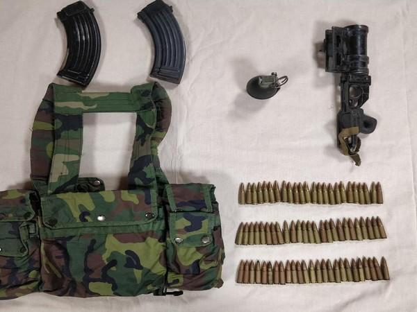 Jammu and Kashmir Police recovered arms and ammunition from the possession of two terrorists in Sopore district on Sunday.