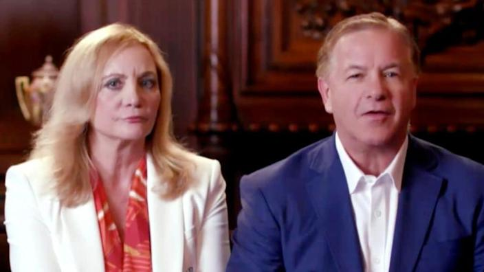 Infamous St. Louis couple Patricia and Mark McCloskey, who pointed guns at Black Lives Matter protesters, addresses the virtual RNC convention in a pre-recorded video broadcast in August. (Photo Courtesy of the Committee on Arrangements for the 2020 Republican National Committee via Getty Images)