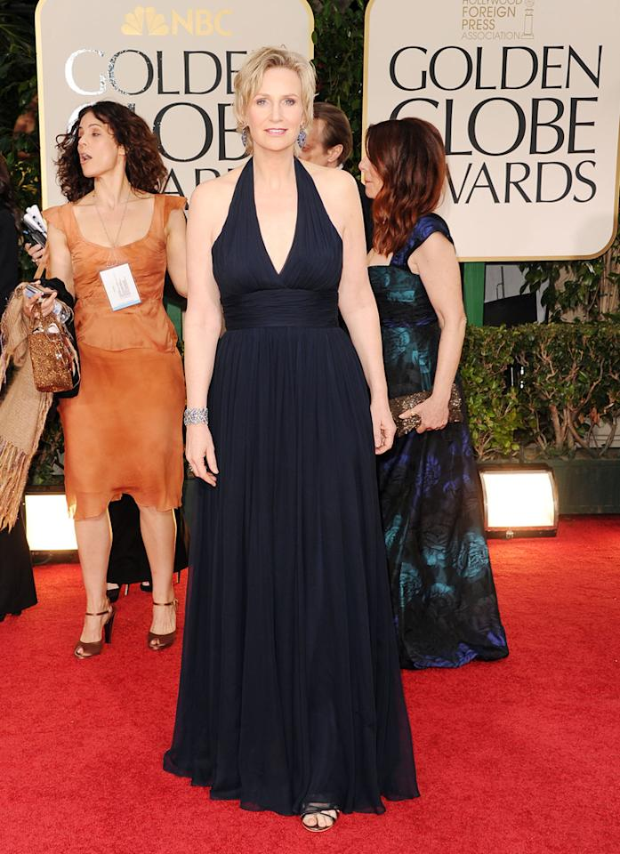 Jane Lynch arrives at the 69th Annual Golden Globe Awards in Beverly Hills, California, on January 15