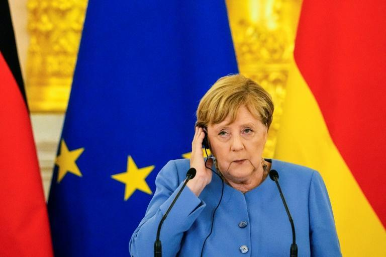 Merkel's visit comes ahead of her departure from office next month