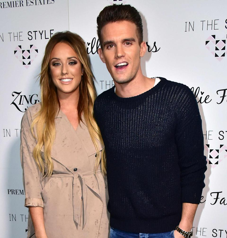 Charlotte and Gaz had an on/off relationship. Copyright: [Rex]