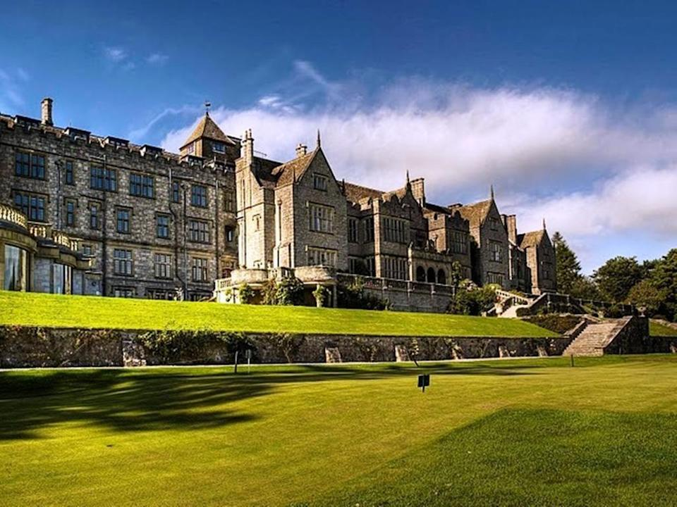 """<p><a href=""""https://go.redirectingat.com?id=127X1599956&url=https%3A%2F%2Fwww.booking.com%2Fhotel%2Fgb%2Fbovey-castle.en-gb.html%3Faid%3D2070929%26label%3Dcastle-hotels&sref=https%3A%2F%2Fwww.redonline.co.uk%2Ftravel%2Finspiration%2Fg34992074%2Fcastle-hotels%2F"""" rel=""""nofollow noopener"""" target=""""_blank"""" data-ylk=""""slk:Bovey Castle"""" class=""""link rapid-noclick-resp"""">Bovey Castle</a> is perhaps more ultra-grand Victorian-style country house hotel than a castle per se. However, perched on the edge of 368 square miles of rolling Dartmoor countryside and surrounded by extensive grounds of dense forest, it's as majestic on the outside as it is cosy on the inside. </p><p>This is the spot to enjoy long walks before retiring to the castle hotel to snuggle up by the roaring log fire and tuck into afternoon tea.</p><p><a href=""""https://www.redescapes.com/offers/devon-moretonhampstead-bovey-castle-hotel"""" rel=""""nofollow noopener"""" target=""""_blank"""" data-ylk=""""slk:Read our review of Bovey Castle"""" class=""""link rapid-noclick-resp"""">Read our review of Bovey Castle</a></p><p><a class=""""link rapid-noclick-resp"""" href=""""https://go.redirectingat.com?id=127X1599956&url=https%3A%2F%2Fwww.booking.com%2Fhotel%2Fgb%2Fbovey-castle.en-gb.html%3Faid%3D2070929%26label%3Dcastle-hotels&sref=https%3A%2F%2Fwww.redonline.co.uk%2Ftravel%2Finspiration%2Fg34992074%2Fcastle-hotels%2F"""" rel=""""nofollow noopener"""" target=""""_blank"""" data-ylk=""""slk:CHECK AVAILABILITY"""">CHECK AVAILABILITY</a></p>"""