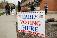 More than 40 million Americans have cast their ballots early in the presidential election, according to the US Elections Project