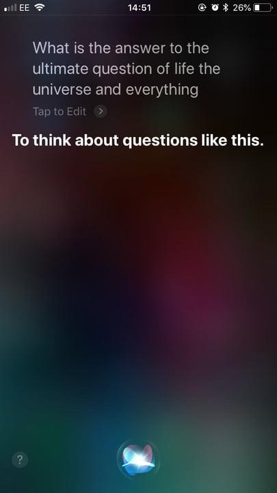 funny questions to ask siri life universe everything 1