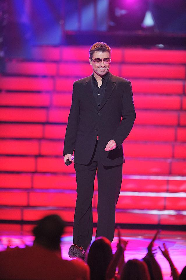 """Like Elton John, George Michael is a dynamic English-born performer who continues to draw crowds. M. Caulfield/<a href=""""http://www.wireimage.com"""" target=""""new"""">WireImage.com</a> - May 21, 2008"""