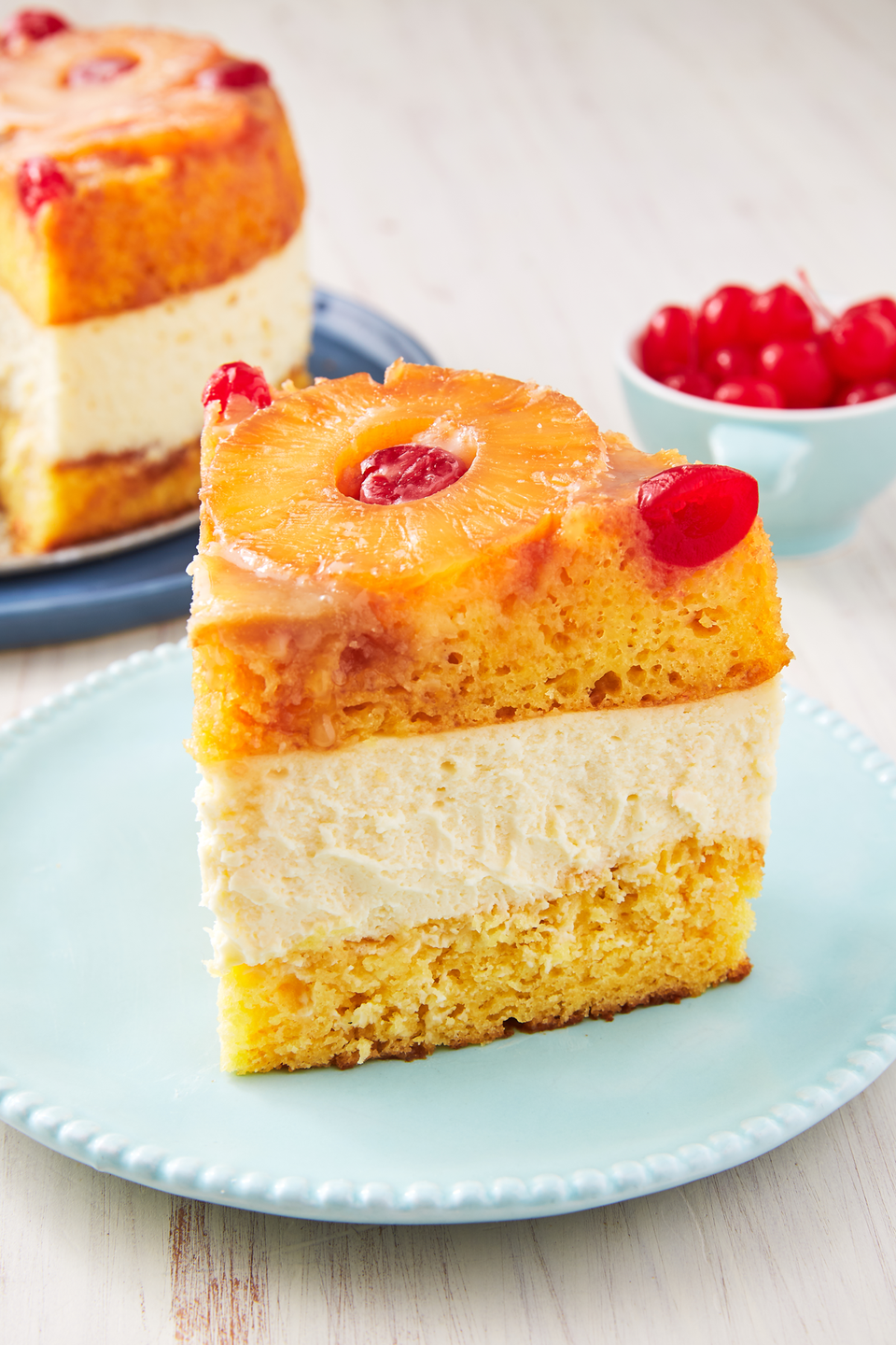"""<p>We didn't know pineapple upside down cake could be even better. </p><p>Get the recipe from <a href=""""https://www.delish.com/cooking/recipe-ideas/recipes/a56415/pineapple-upside-down-cheesecake-recipe/"""" rel=""""nofollow noopener"""" target=""""_blank"""" data-ylk=""""slk:Delish"""" class=""""link rapid-noclick-resp"""">Delish</a>. </p>"""