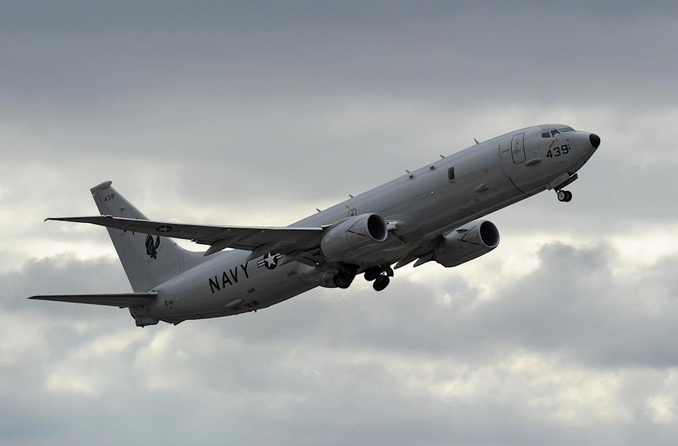 Indian navy plane crashes into Arabian sea, while one pilot ejected safely another is missing.   (AFP via Getty Images)