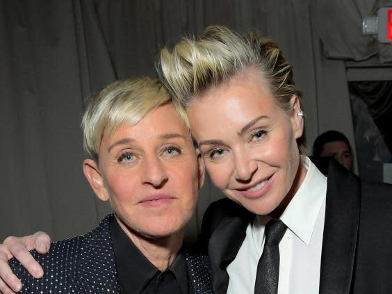 Ellen DeGeneres' wife Portia de Rossi has blamed Twitter 'bots' for the allegations of 'mean' behaviour (Getty Images for Netflix)