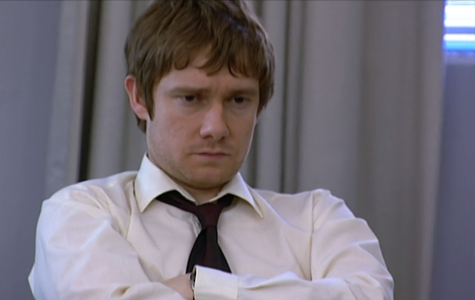 Martin Freeman as the frustrated everyman of The Office, Tim Canterbury. (BBC)