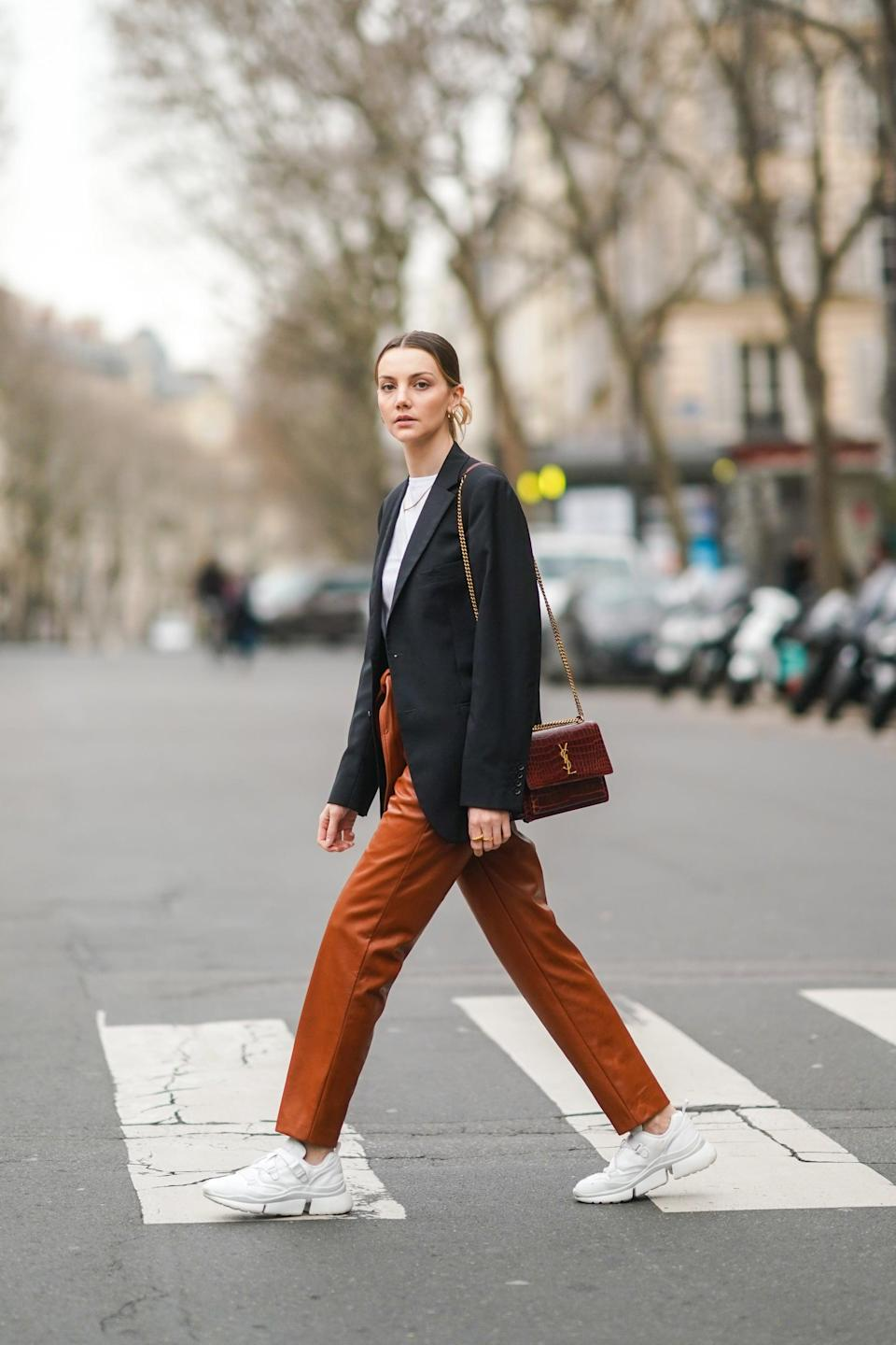 """<p>A must have for any fashionable wardrobe, the leather trouser now comes in a variety of <a href=""""https://www.popsugar.com/fashion/vegan-leather-shopping-guide-47403860"""" class=""""link rapid-noclick-resp"""" rel=""""nofollow noopener"""" target=""""_blank"""" data-ylk=""""slk:vegan leathers"""">vegan leathers</a> for cruelty-free (and more-affordable!) options.</p>"""