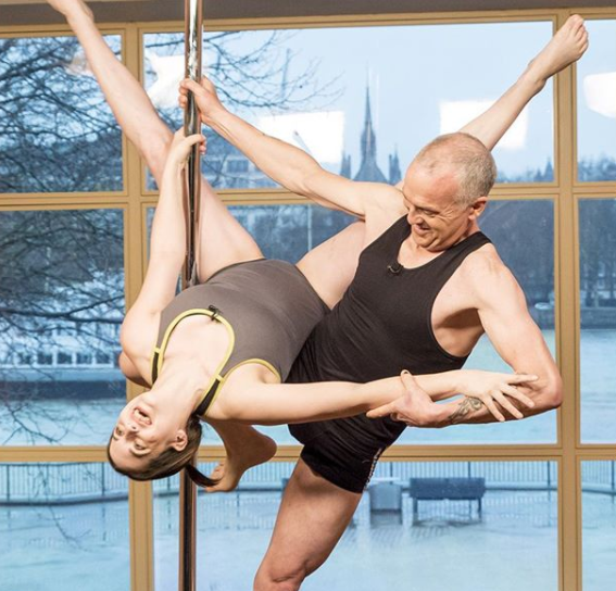 Hazel and Dave showed off their tricks on TV. Photo: Instagram/thismorning